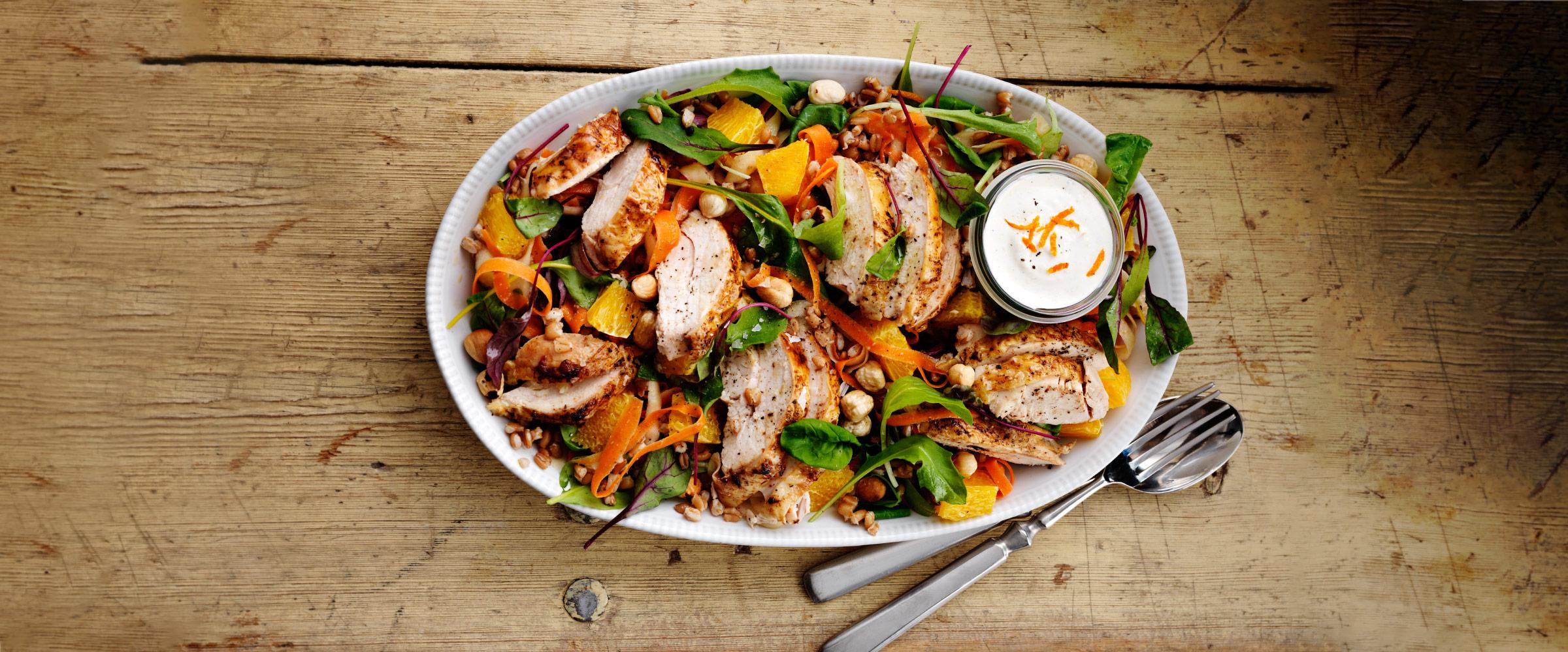 grillad kyckling sallad recept