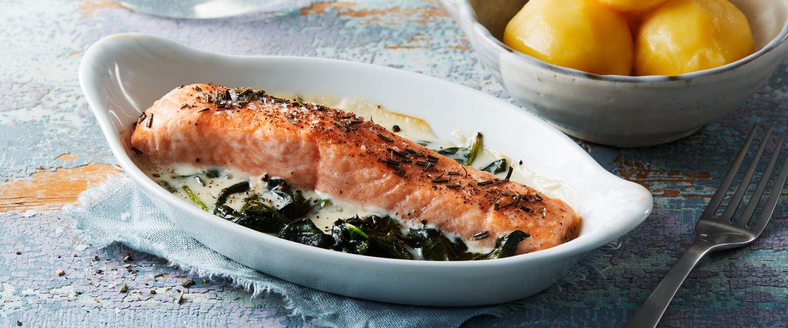 Snabb middag med fisk som huvudingrediens, recepten hittar du här