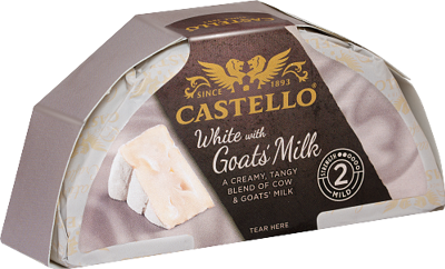 White with goats milk 39%
