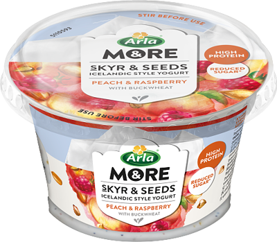 Skyr & Seeds Raspberry/peach