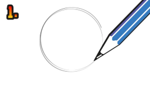 Gör en cirkel med en blyertspenna.