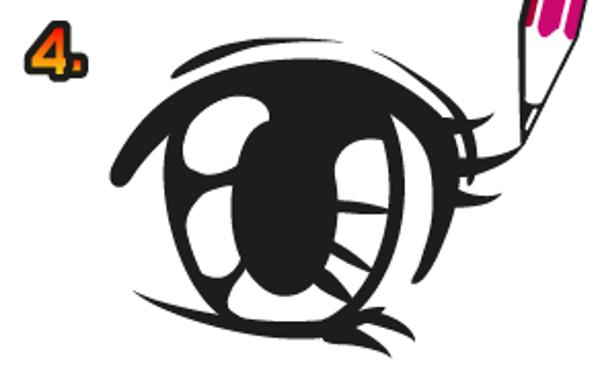 Rita ögonfransar.