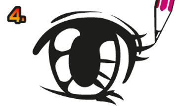 rita manga ögon steg för steg