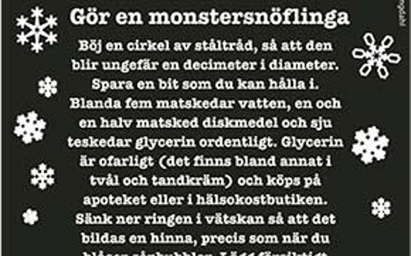 Gör en monstersnöflinga
