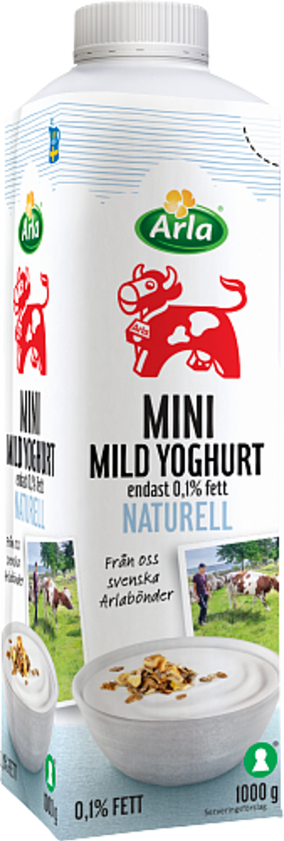 Mild mini yoghurt naturell 0,1%