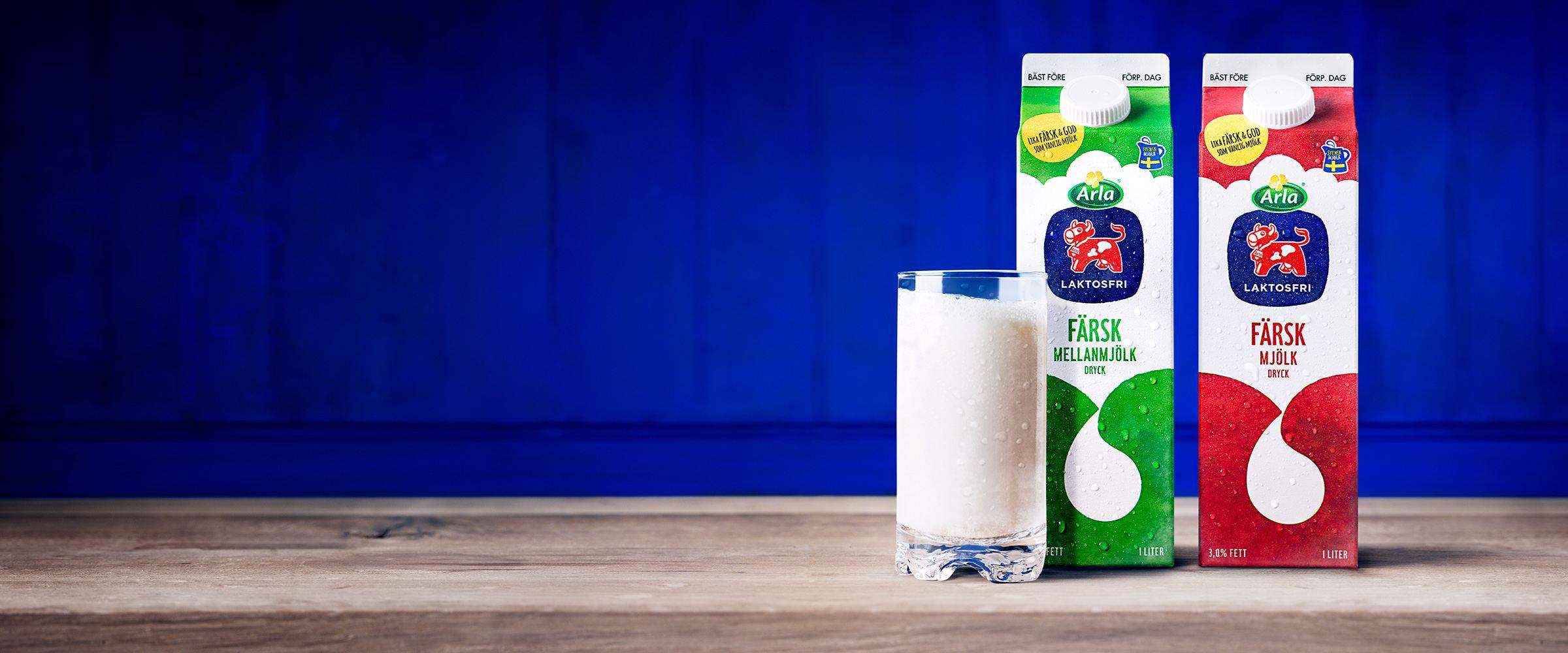 färsk laktosfri mjölk