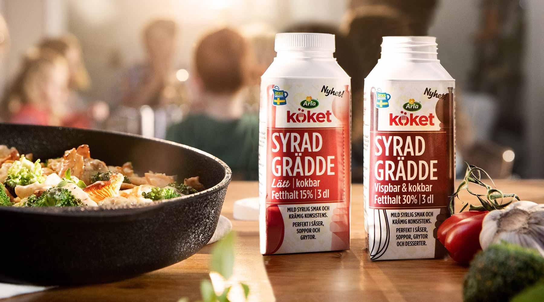 recept med syrad grädde