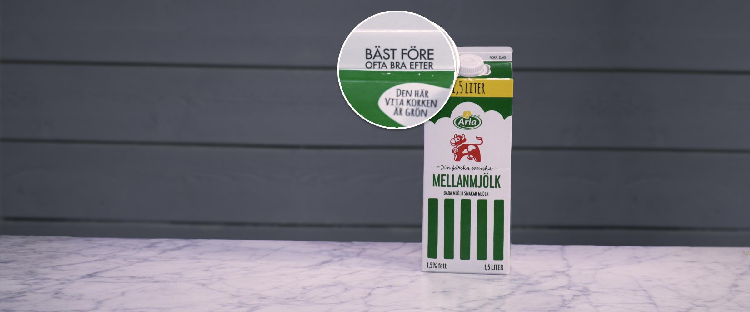 bäst före datum mjölk