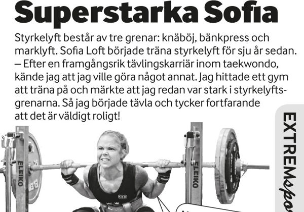 Extremsport – superstarka Sofia