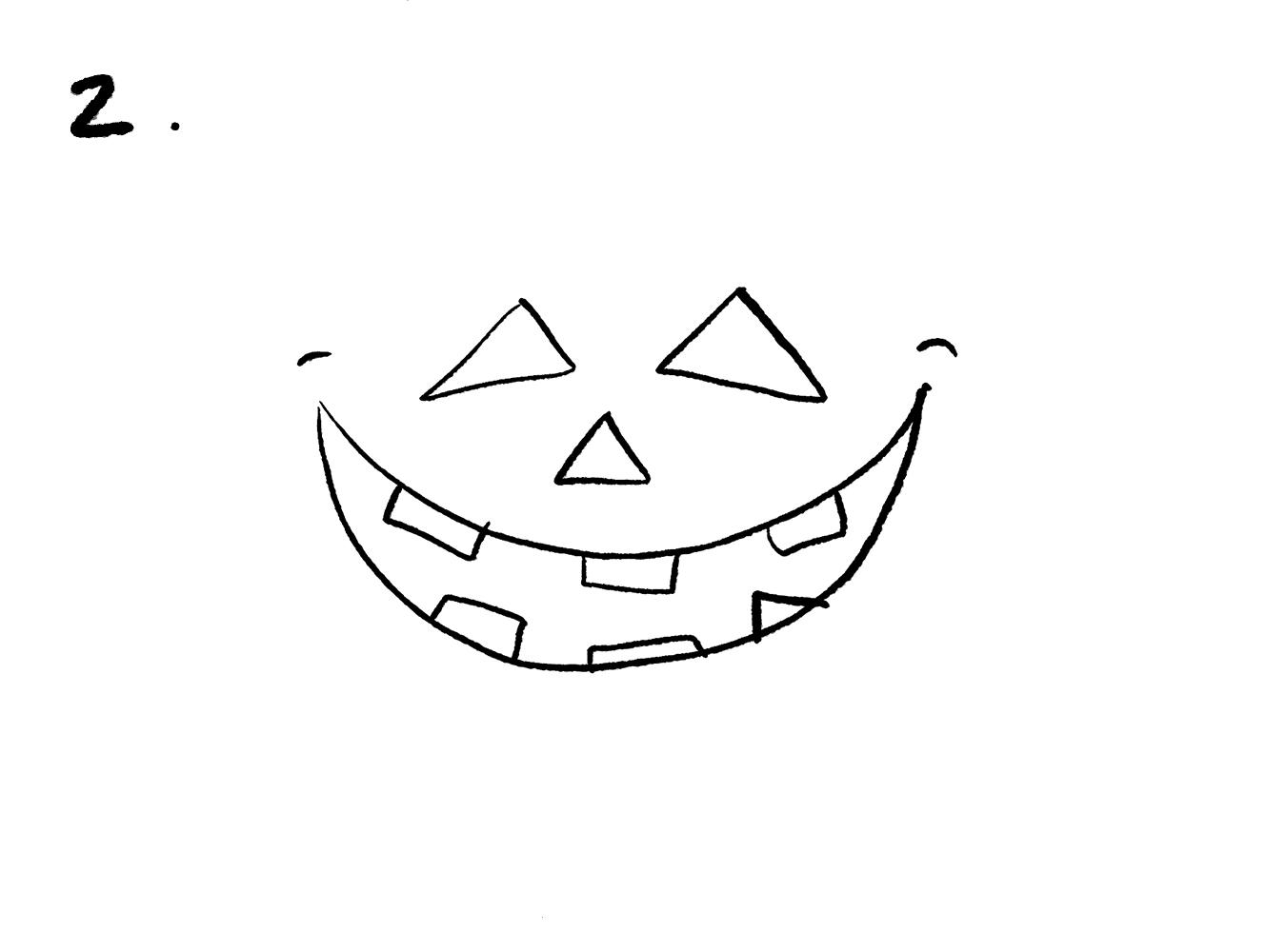 Rita en halloweenpumpa – steg 2 49066dae3b704