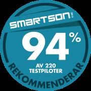 Smartson – 94 % av 200 testpiloter rekommenderar